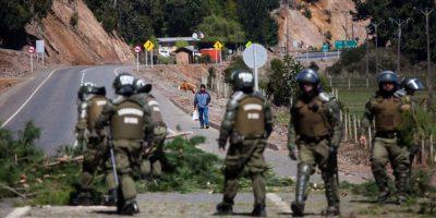 Tres carabineros lesionados tras registrarse enfrentamientos en Ercilla