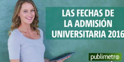 Infografía: las fechas de la admisión universitaria 2016