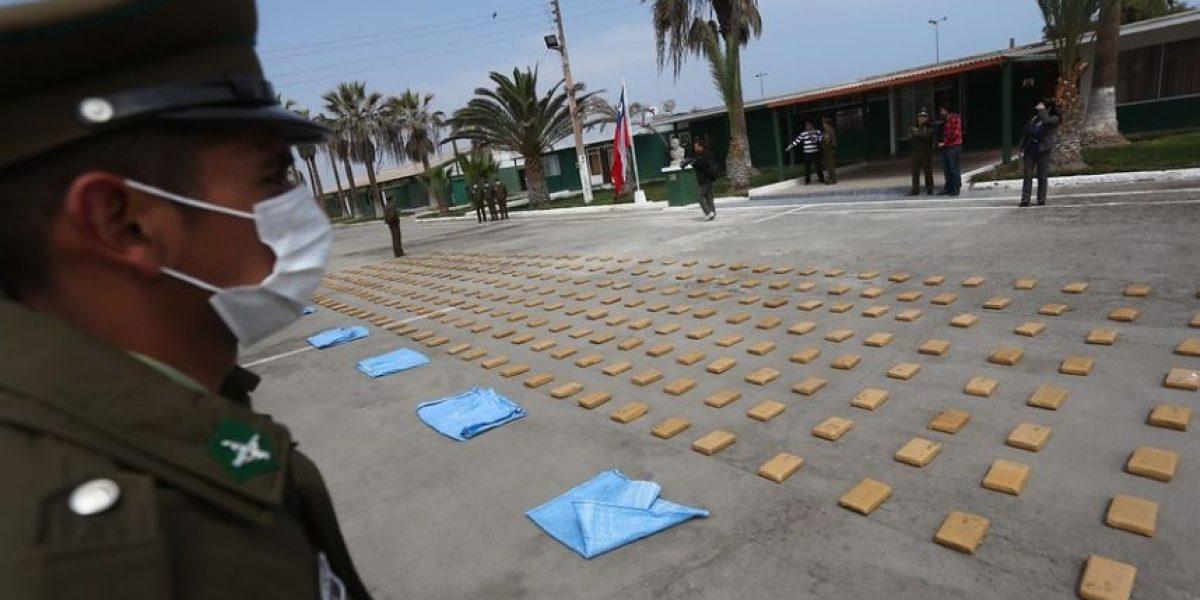 Carabineros incautó 16.971 kilos de droga en 2015
