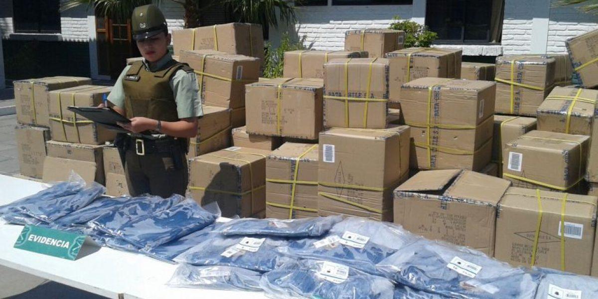 GPS de camión permitió recuperar millonario cargamento de ropa robada en Peñaflor