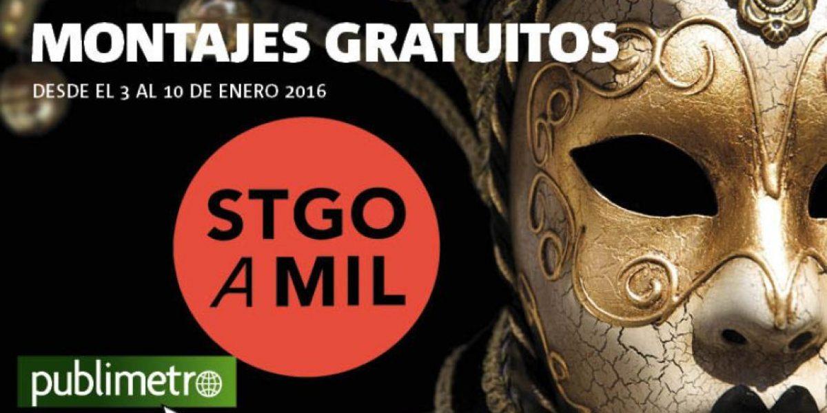 Infografía: montajes gratuitos de Santiago a Mil, desde el 3 al 10 de enero 2016