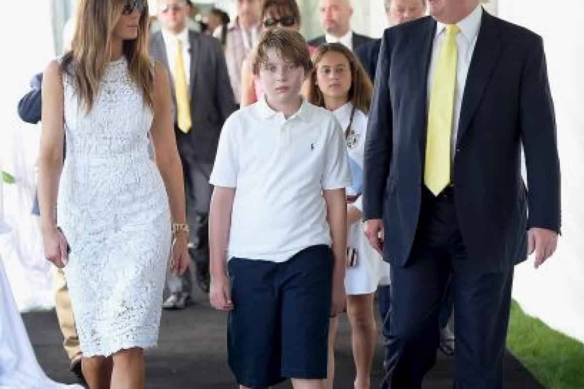 Según declaró Melania, la tercera esposa de Trump, Barron es más parecido a su padre Foto:Getty Image. Imagen Por: