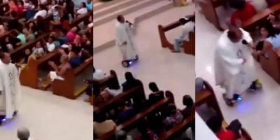 Un sacerdote es suspendido por montar en patineta durante la misa de Nochebuena