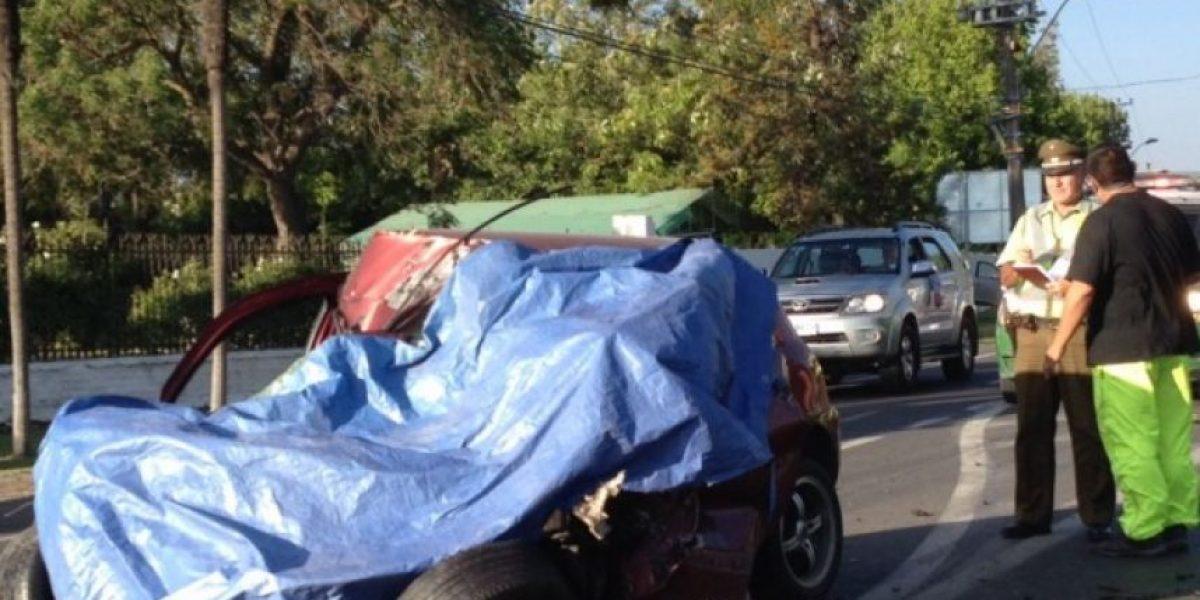 Al menos un fallecido dejó accidente vehicular en camino a Melipilla