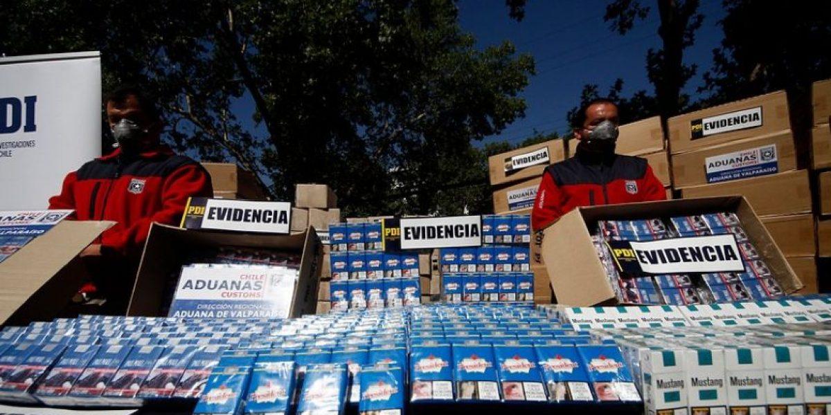 Viña del Mar: PDI y Carabineros desbaratan tráfico de cigarrillos