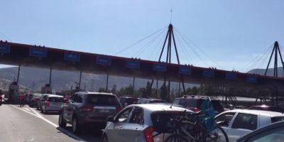 Congestión en Peaje Lo Prado concentró reclamos de usuarios en las redes sociales