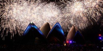 El 2016 ya llegó a Australia: impresionante recibimiento al Año Nuevo con fuegos artificiales