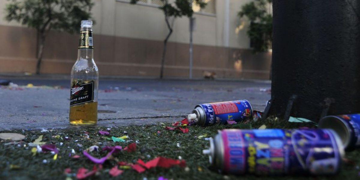 La basura se apoderó de las calles tras los festejos de Año Nuevo