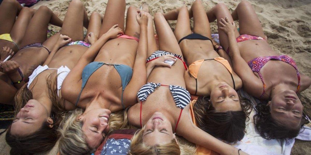 Los turistas se tomaron las playas de Reñaca este fin de semana