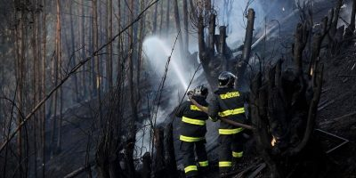 Bomberos y brigadistas logran controlar incendio forestal en Agua Fresca