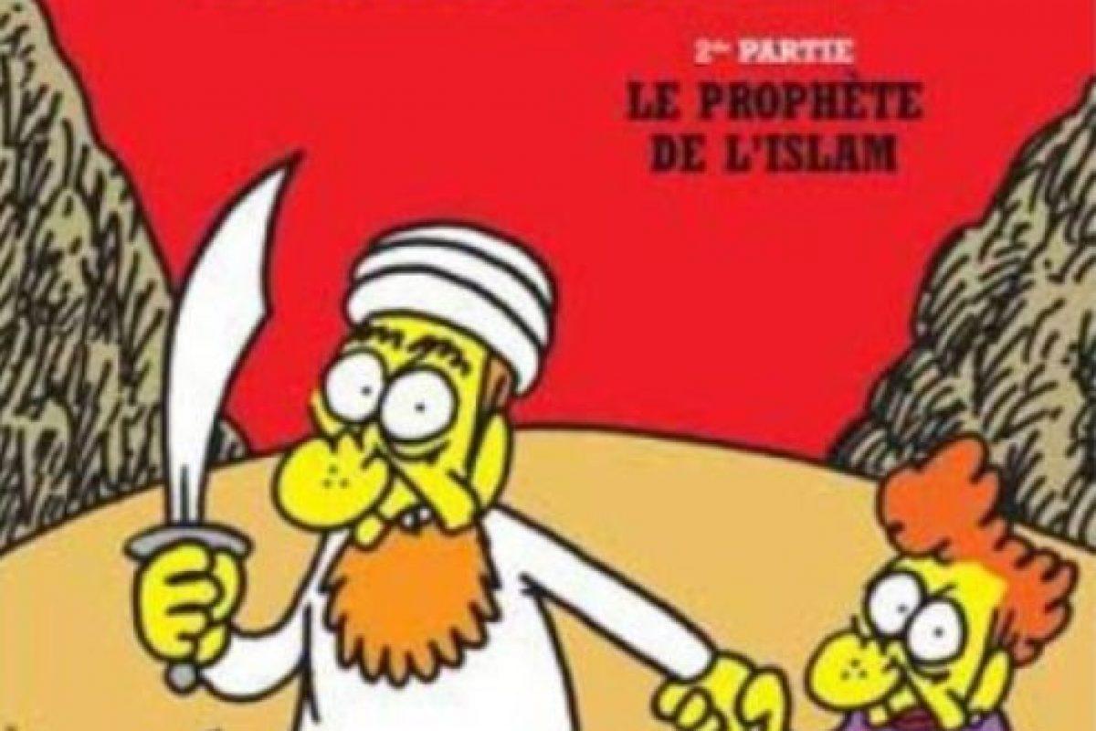Mahoma era uno de los personajes recurrentes. Foto:Charlie Hebdo. Imagen Por: