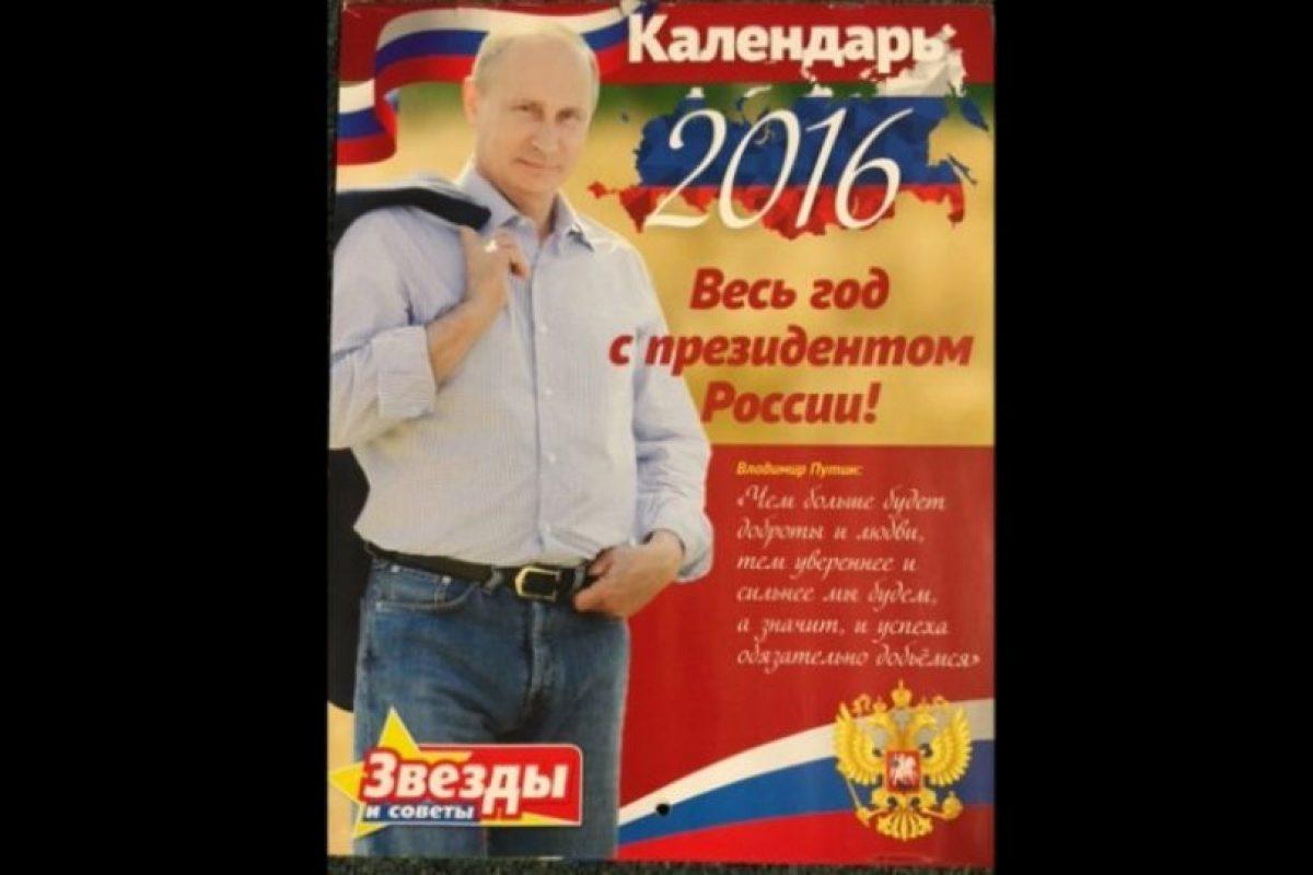 Los fanáticos del presidente ruso Vladimir Putin pueden admirarlo todo el año. Foto:Vía Zvezdi me Soveti. Imagen Por: