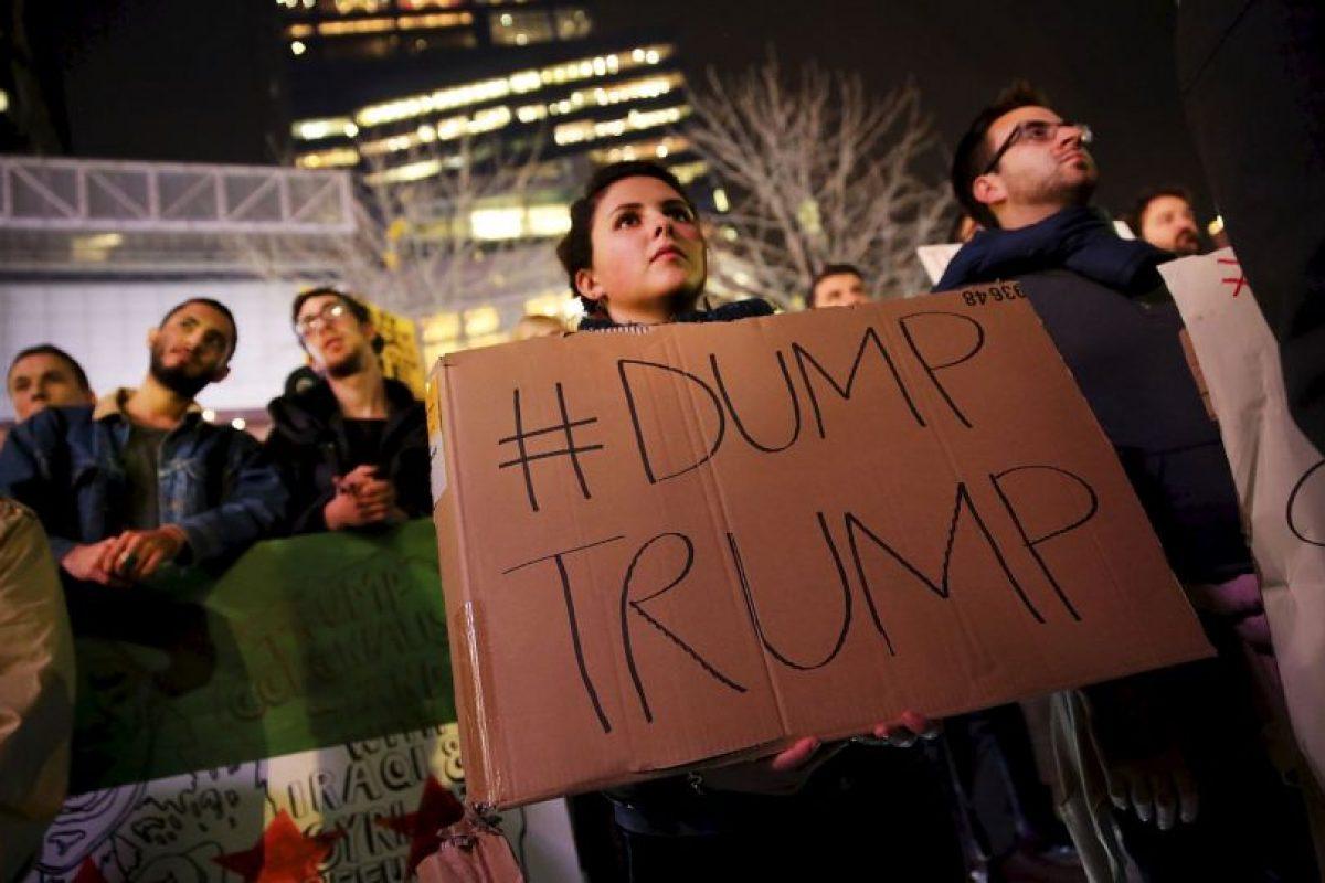 Inició su candidatura anunciando que creará un muro en la frontera Foto:Getty Images. Imagen Por: