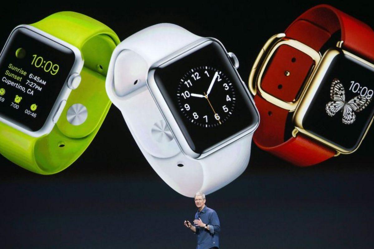 En la presentación del Apple Watch. Foto:Getty Images. Imagen Por: