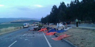 Grave accidente ocurrido en la Región de La Araucanía deja nueve personas muertas