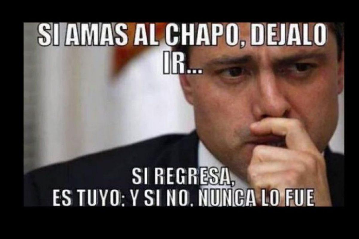 O a Enrique Peña Nieto y a la vergüenza mundial que pasó el año pasado por la fuga. Foto:vía Twitter. Imagen Por: