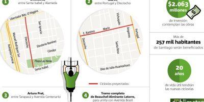 Los 13 nuevos kilómetros de ciclovías que tendrá Santiago en 2016