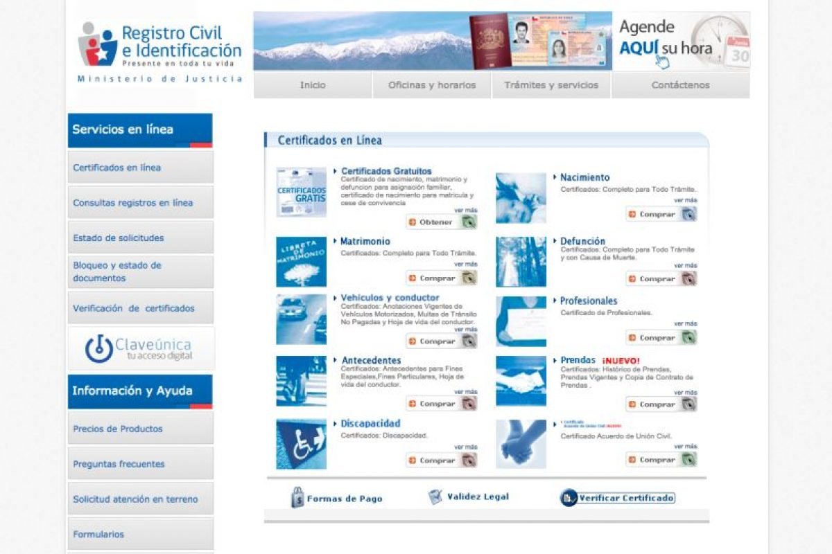 Foto: Captura Registro Civil. Imagen Por: