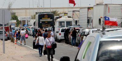 Protesta de camioneros en Arica por altas multas bloqueó ruta a Tacna