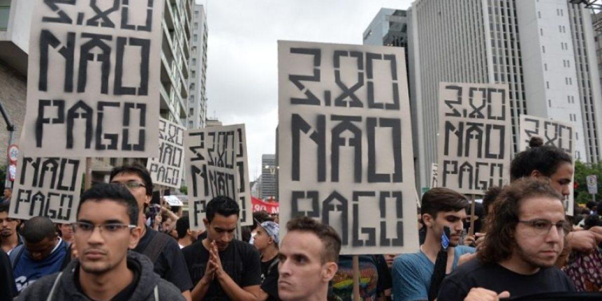 Estas imágenes dejaron las protestas en Brasil por el alza del pasaje