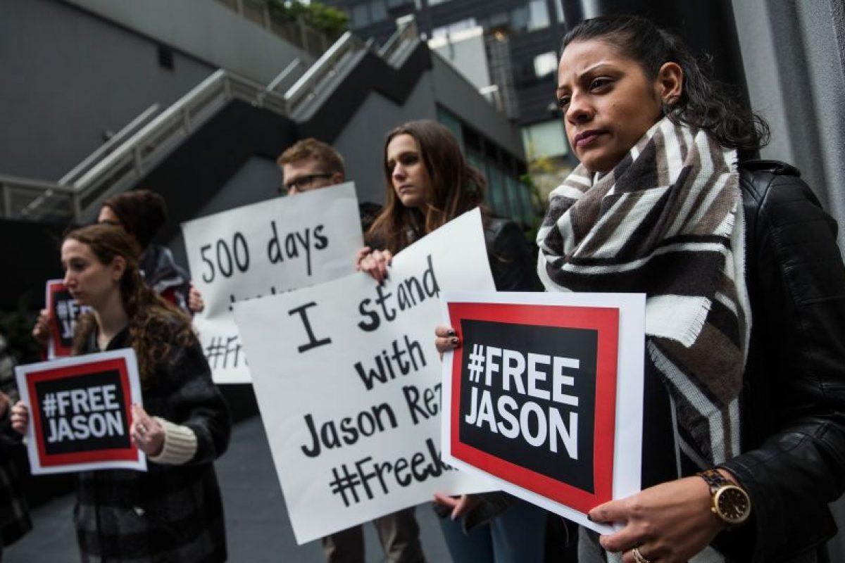 Protesta en apoyo a periodista detenido, diciembre 2015 Foto:gettyimages. Imagen Por: