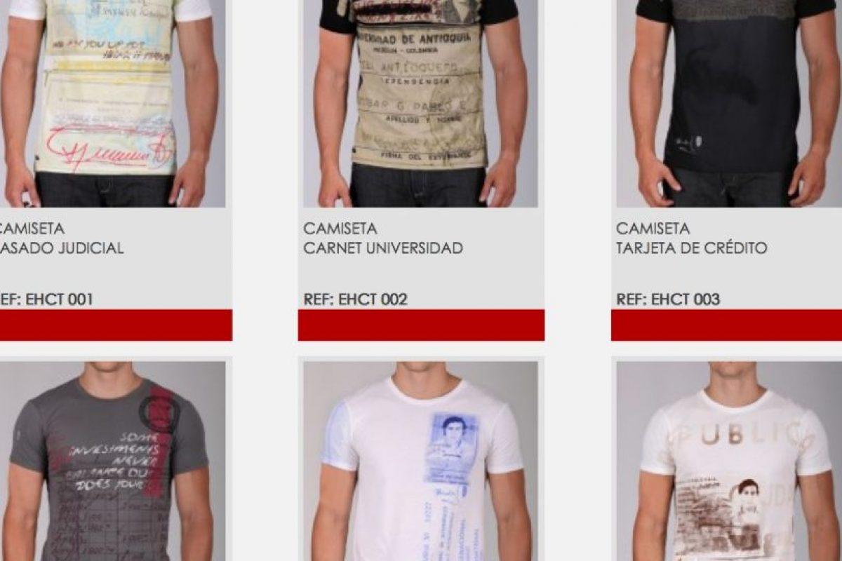 Las prendas tienen un costo de 60 a 95 dólares y se pueden adquirir en iIternet. Foto:Vía escobarhenao.com. Imagen Por: