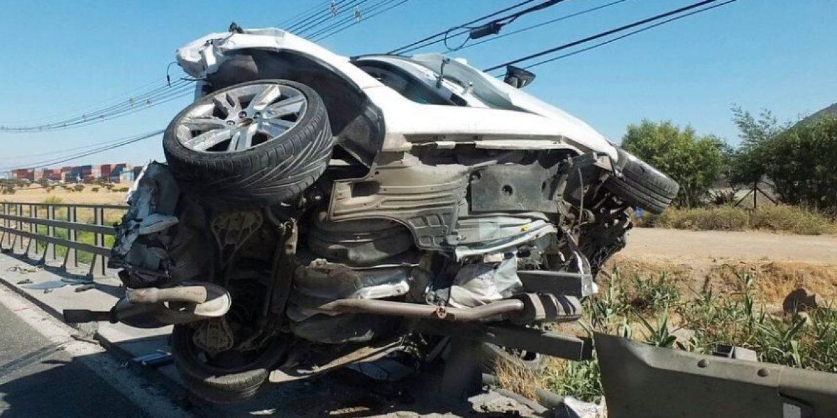 Accidente en Ruta 68 deja un muerto y dos heridos
