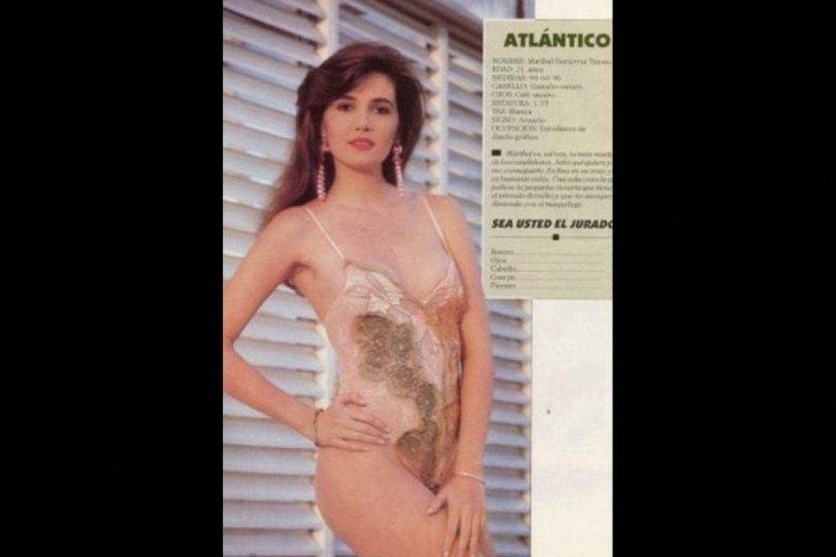 Candidata a Miss Atlántico en 1990, representaba a Colombia Foto:Colarte.com. Imagen Por: