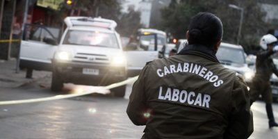 Desconocidos perpetran alunizaje a joyería en pleno centro de Santiago