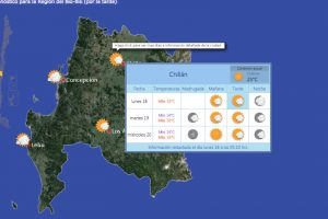 Foto:Captura Dirección Meteorológica de Chile. Imagen Por: