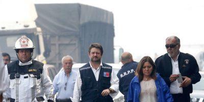 Intendente Orrego anuncia combate al fuego con