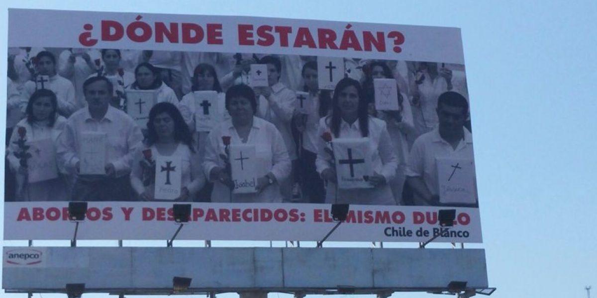 Campaña compara aborto con desapariciones en período de dictadura