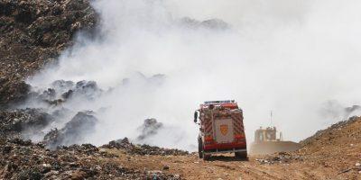 Gobernador: incendio en relleno sanitario Santa Marta está controlado en un 70%