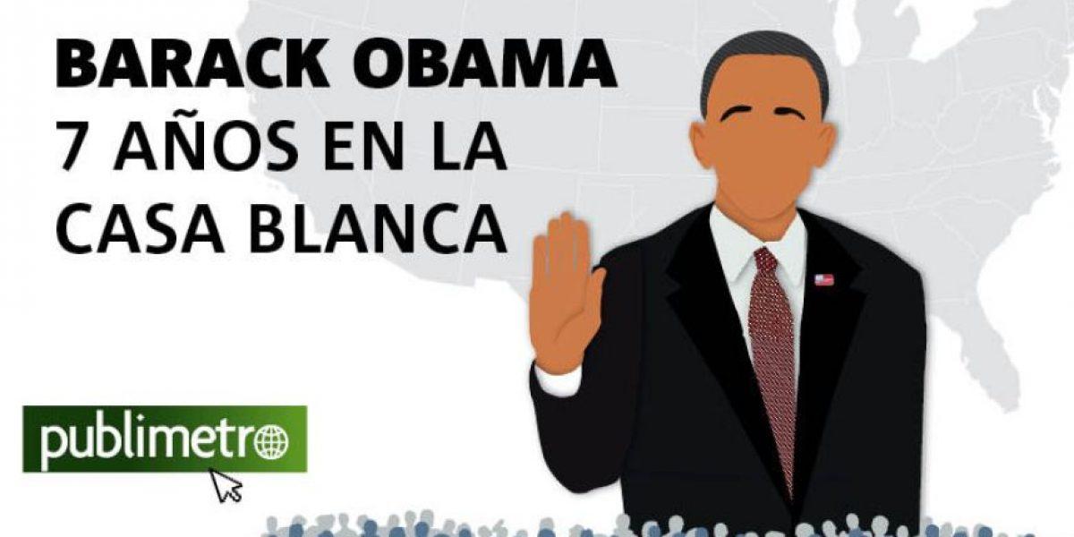 Infografía: Barack Obama, 7 años en la Casa Blanca
