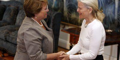 Presidenta se reunió con viuda de Tompkins para acordar donación de terrenos