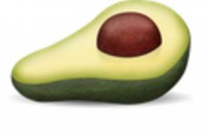 Aguacate o palta. Foto:vía emojipedia.org. Imagen Por: