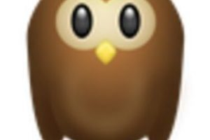 Búho o tecolote. Foto:vía emojipedia.org. Imagen Por: