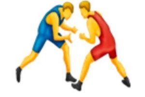Luchadores. Foto:vía emojipedia.org. Imagen Por: