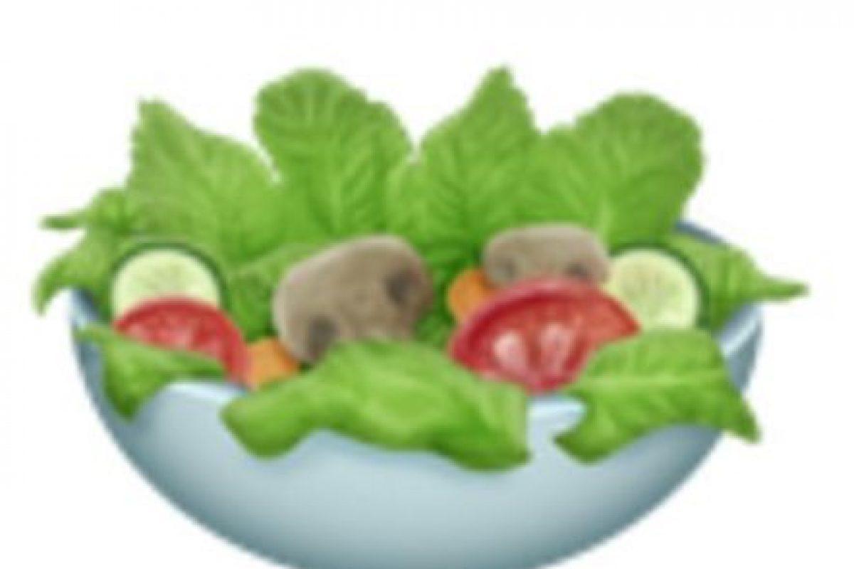 Ensalada verde. Foto:vía emojipedia.org. Imagen Por: