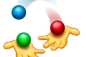 Manos jugando con pelotas de colores. Foto:vía emojipedia.org. Imagen Por: