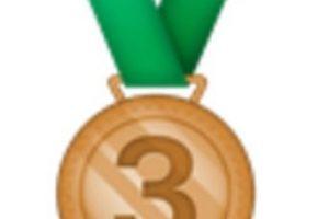 Medalla de bronce, tercer lugar. Foto:vía emojipedia.org. Imagen Por: