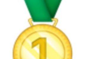 Medalla de oro, primer lugar. Foto:vía emojipedia.org. Imagen Por: