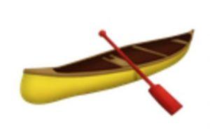 Canoa. Foto:vía emojipedia.org. Imagen Por: