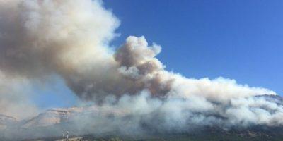 ¡Sólo pasa en Chile! Corte de leña en Divisadero produjo un nuevo incendio forestal