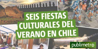 Infografía: seis fiestas culturales del verano en Chile