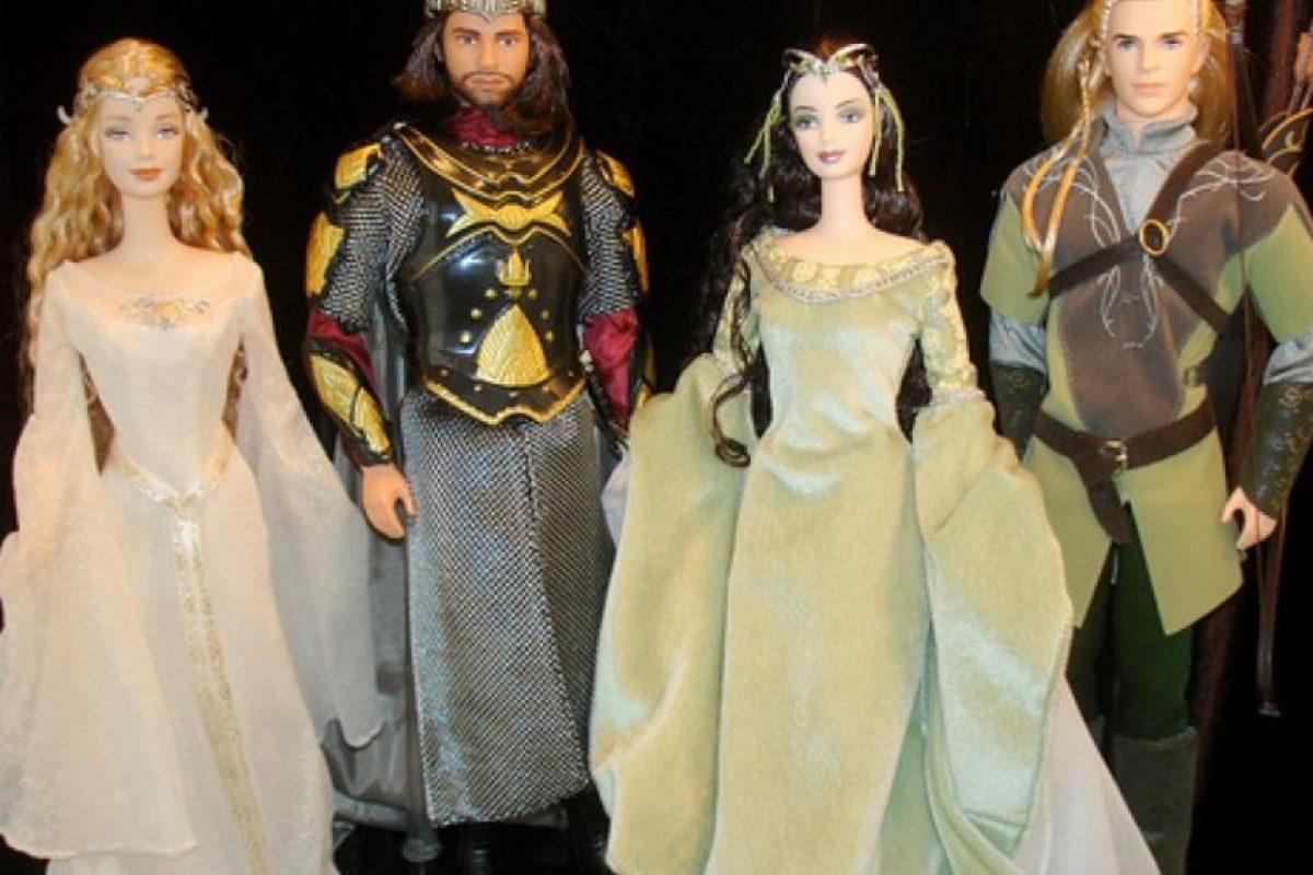 """Las Barbies de """"El Señor de los Anillos"""" Foto:Mattel. Imagen Por:"""