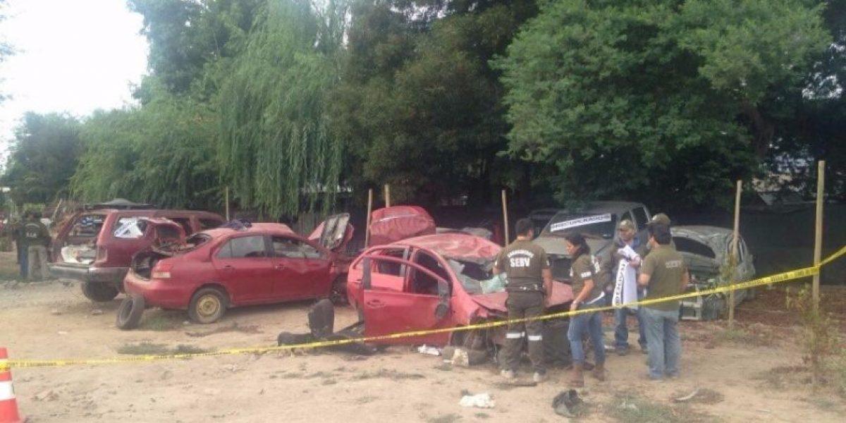 Santa Cruz: Carabineros descubre 13 vehículos robados en taller de desarme