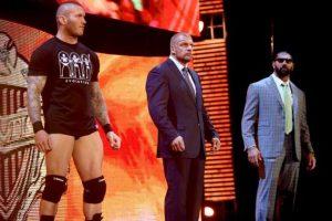 Formó parte de The Evolution, al lado de Randy Orton y Triple H Foto:WWE. Imagen Por: