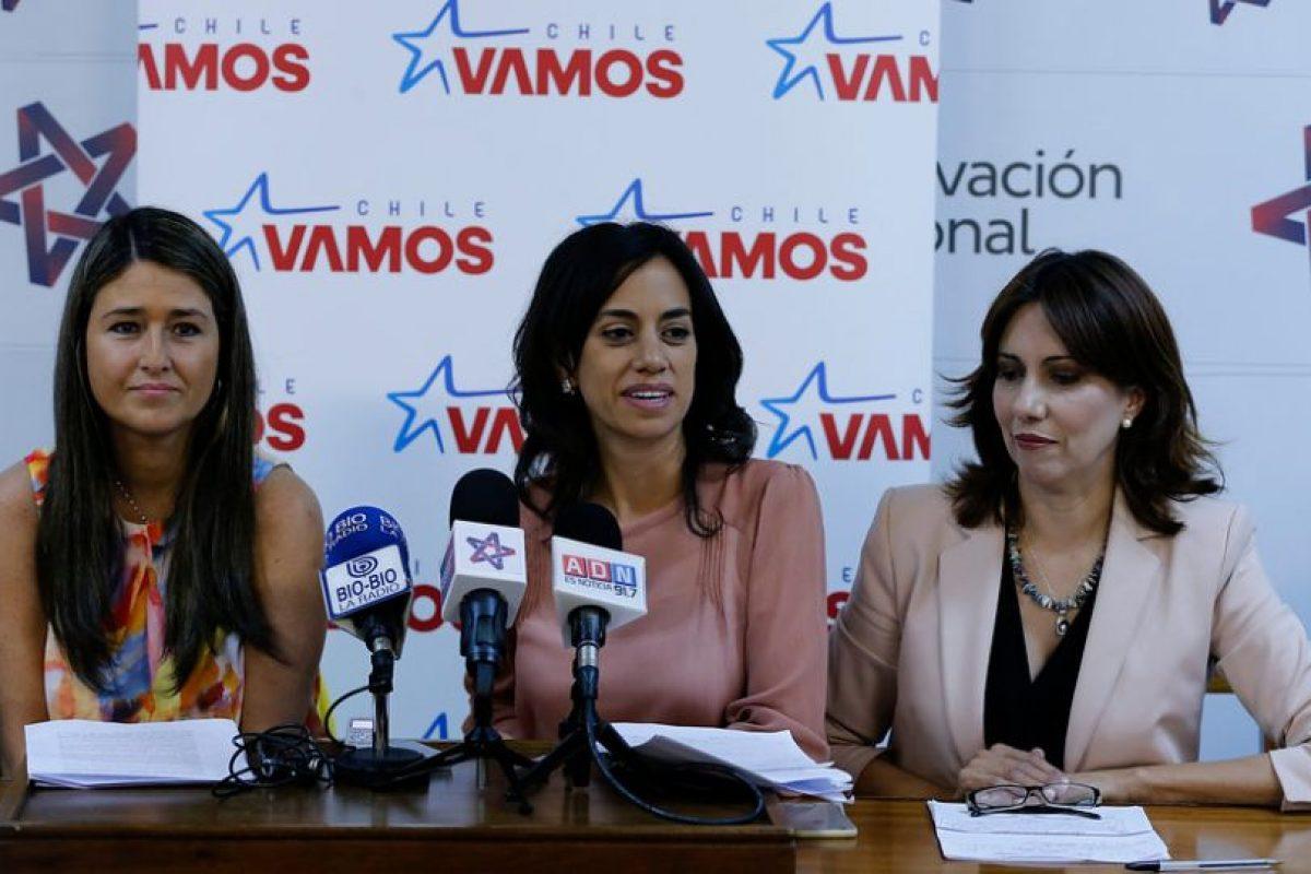 Alejandra Bravo, vocera de Chile Vamos Foto:Agencia Uno. Imagen Por: