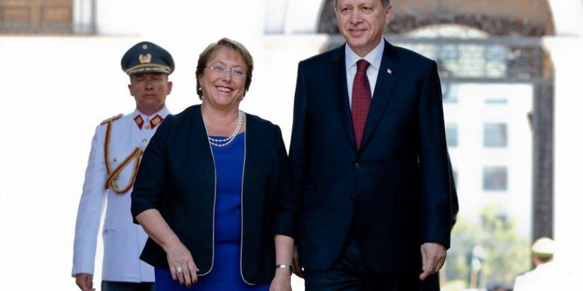 Este fue el recibimiento que ofreció Bachelet al presidente de Turquía